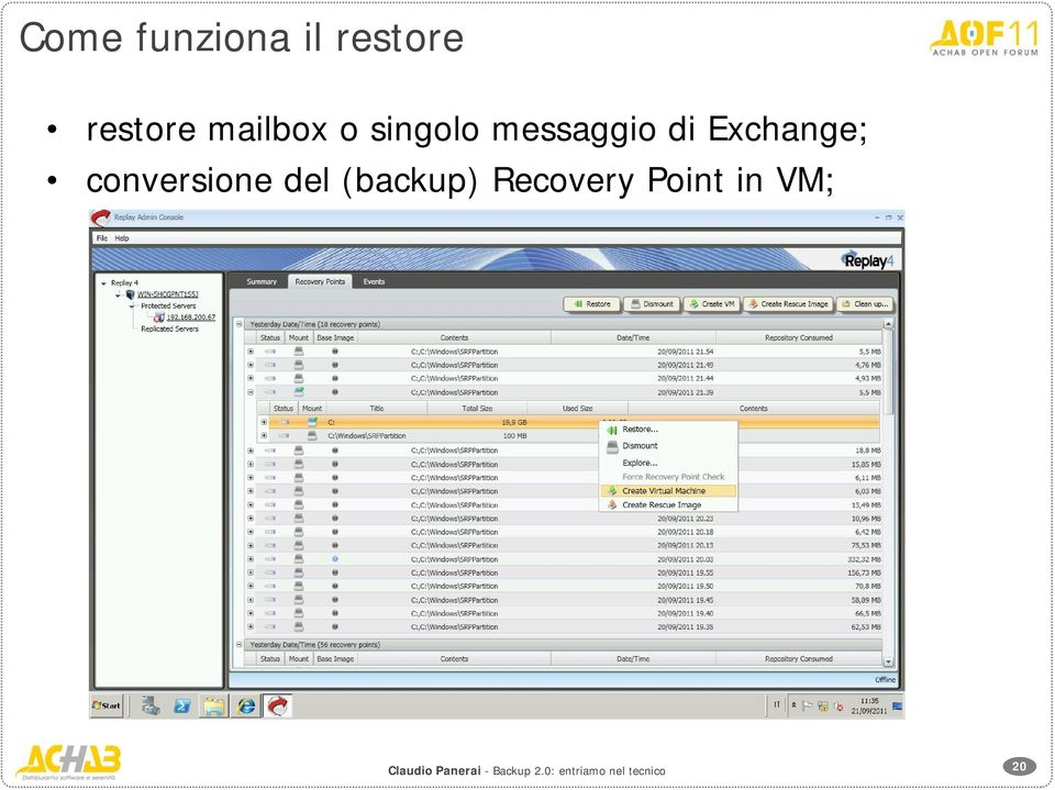 messaggio di Exchange;