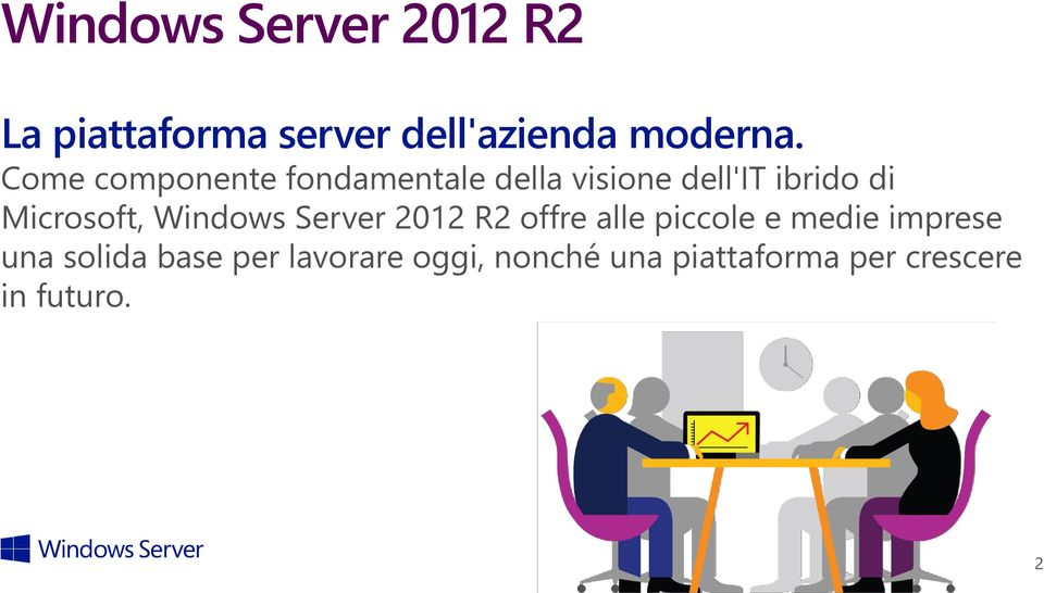 Microsoft, Windows Server 2012 R2 offre alle piccole e medie imprese