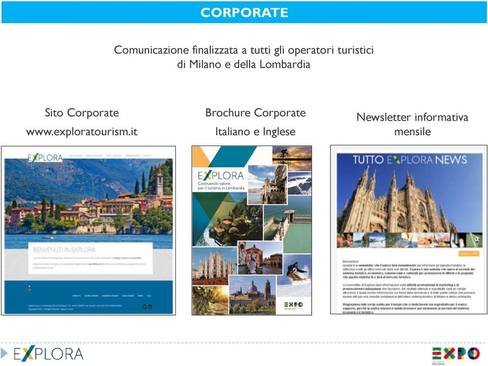 Sito Corporate www.exploratourism.