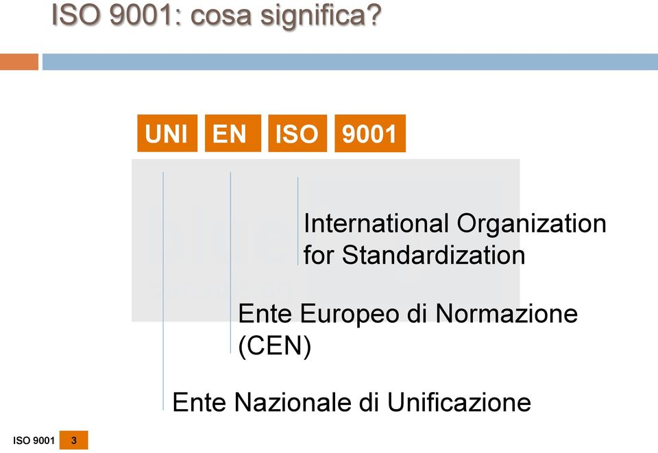 Organization for Standardization Ente