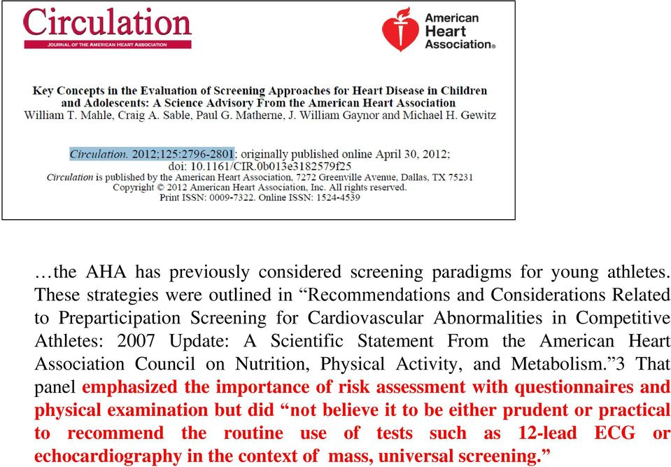 Athletes: 2007 Update: A Scientific Statement From the American Heart Association Council on Nutrition, Physical Activity, and Metabolism.