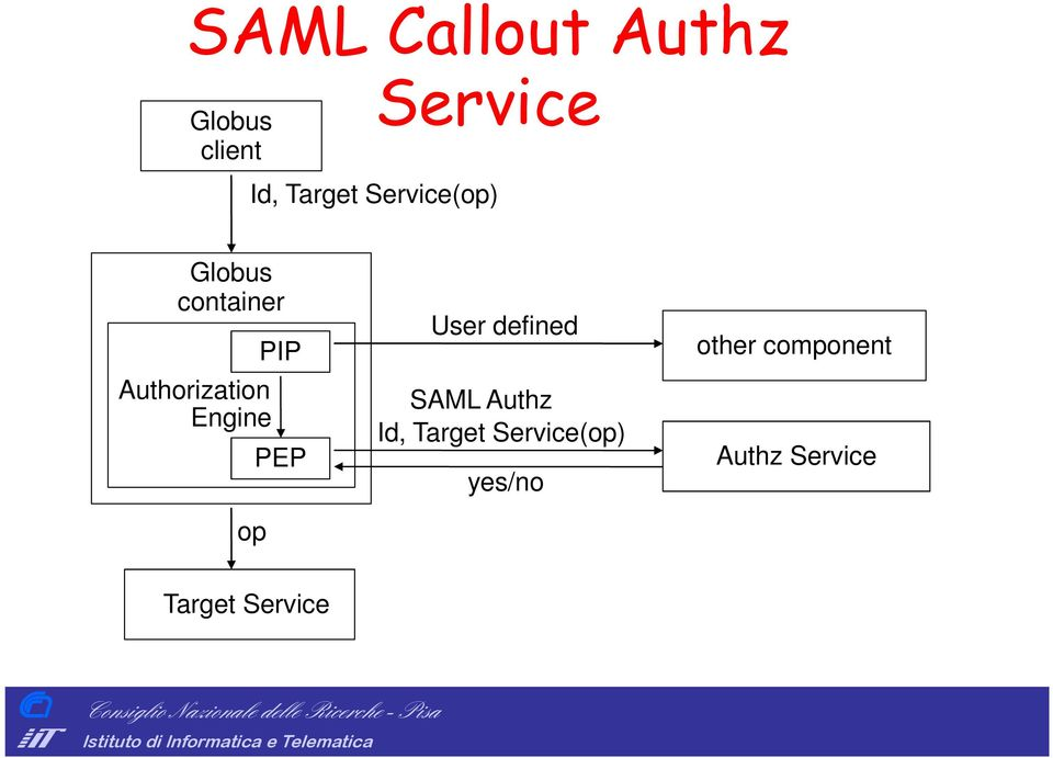 PIP PEP User defined SAML Authz Id, Target
