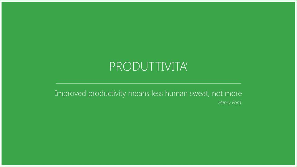 productivity means