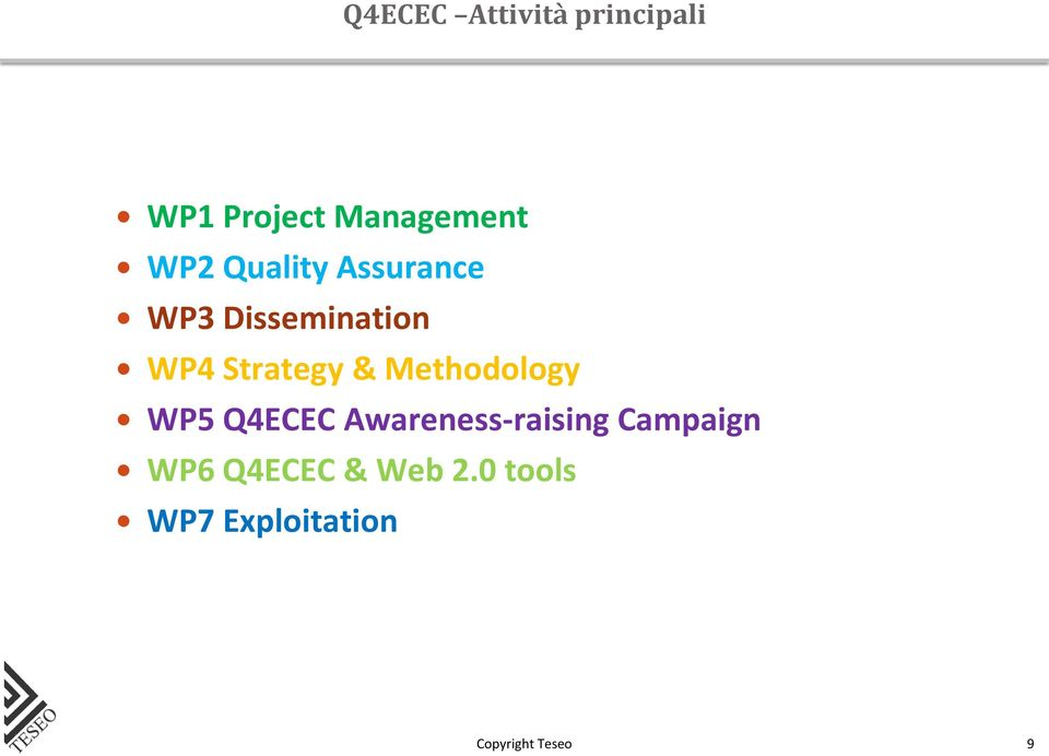 Strategy & Methodology WP5 Q4ECEC