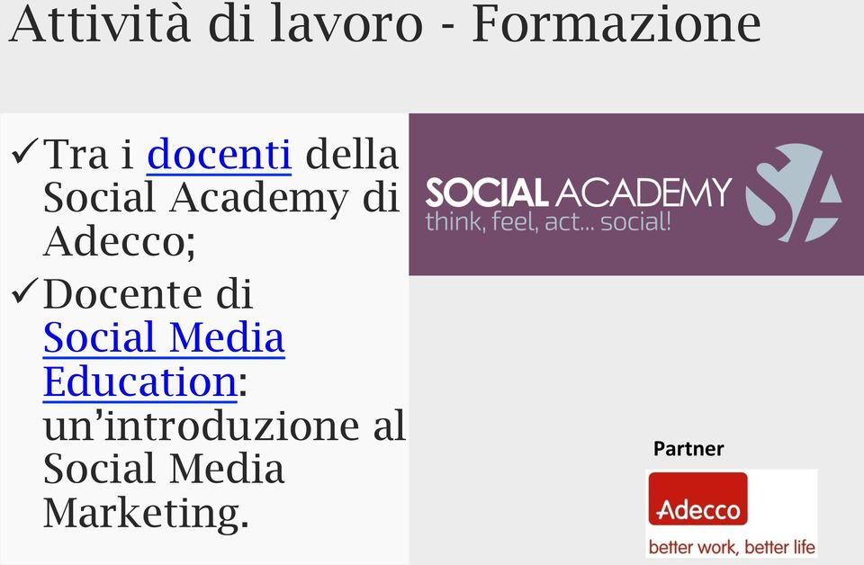 Docente di Social Media Education: un