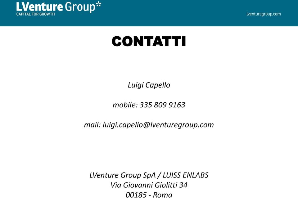 com LVenture Group SpA / LUISS ENLABS