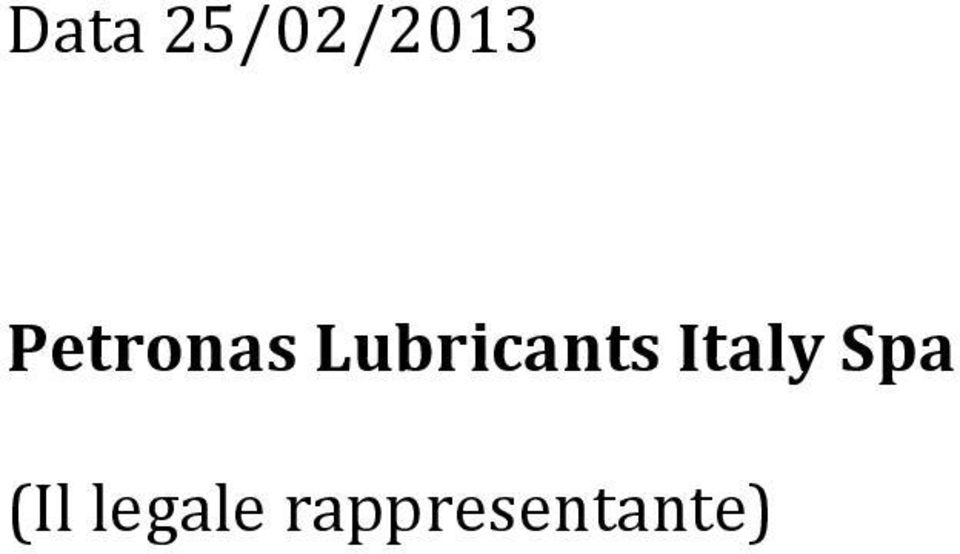 Lubricants Italy