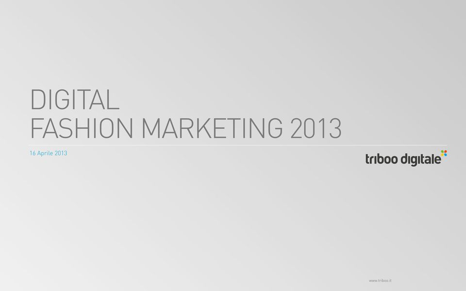 MARKETING 2013