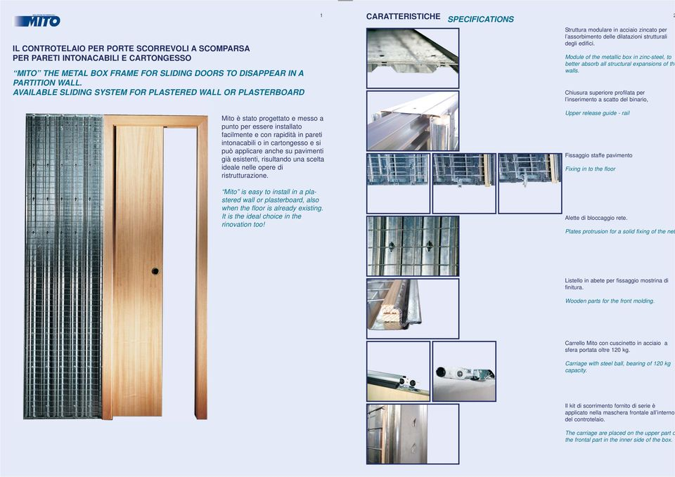 Module of the metallic box in zinc-steel, to better absorb all structural expansions of the walls.