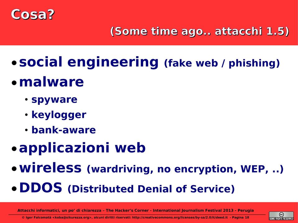 applicazioni web wireless (wardriving, no encryption, WEP,.