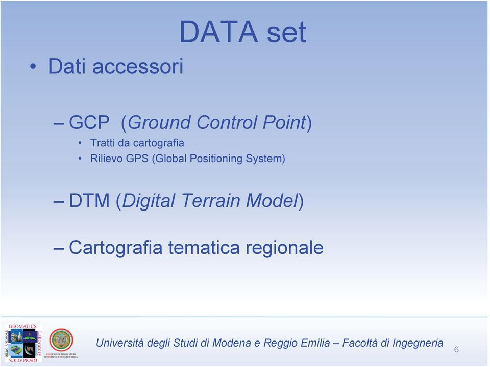 (Global Positioning System) DTM (Digital