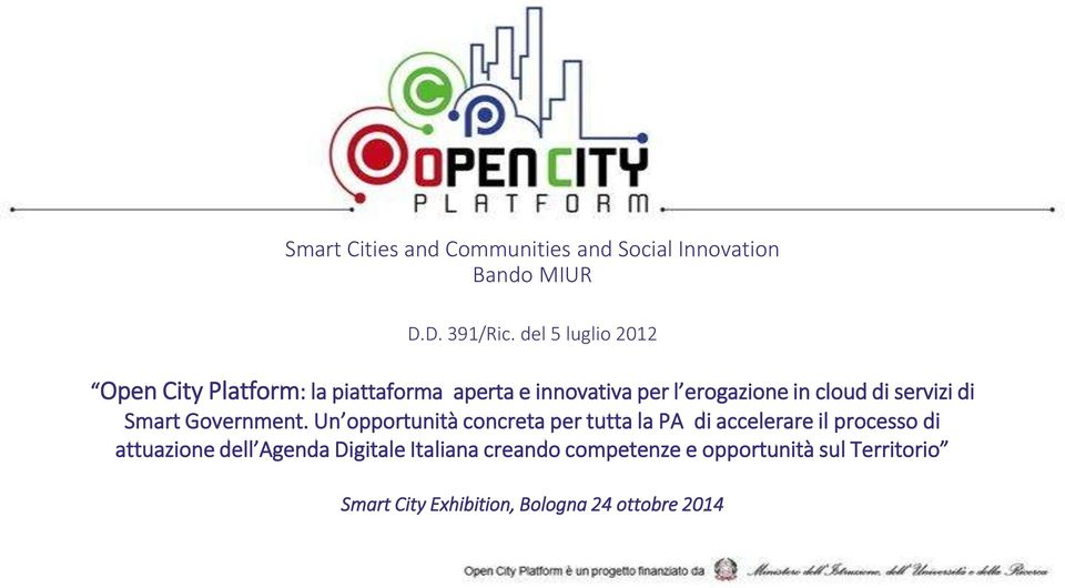 servizi di Smart Government.