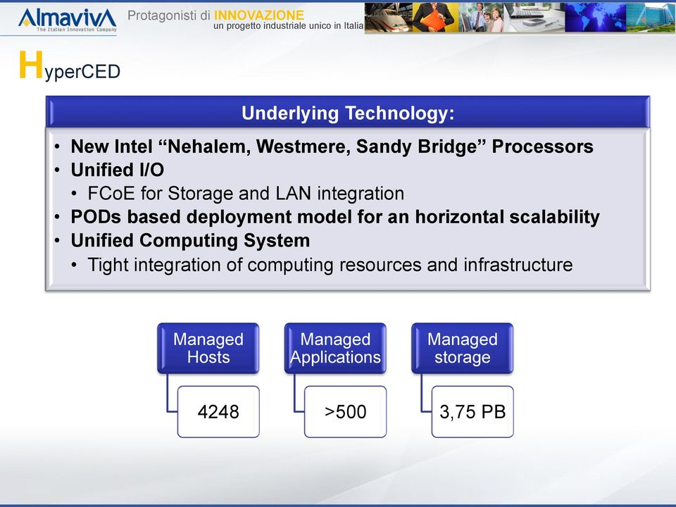 horizontal scalability Unified Computing System Tight integration of computing