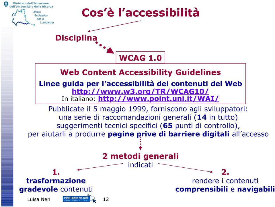 org/tr/wcag10/ In italiano: http://www.point.uni.