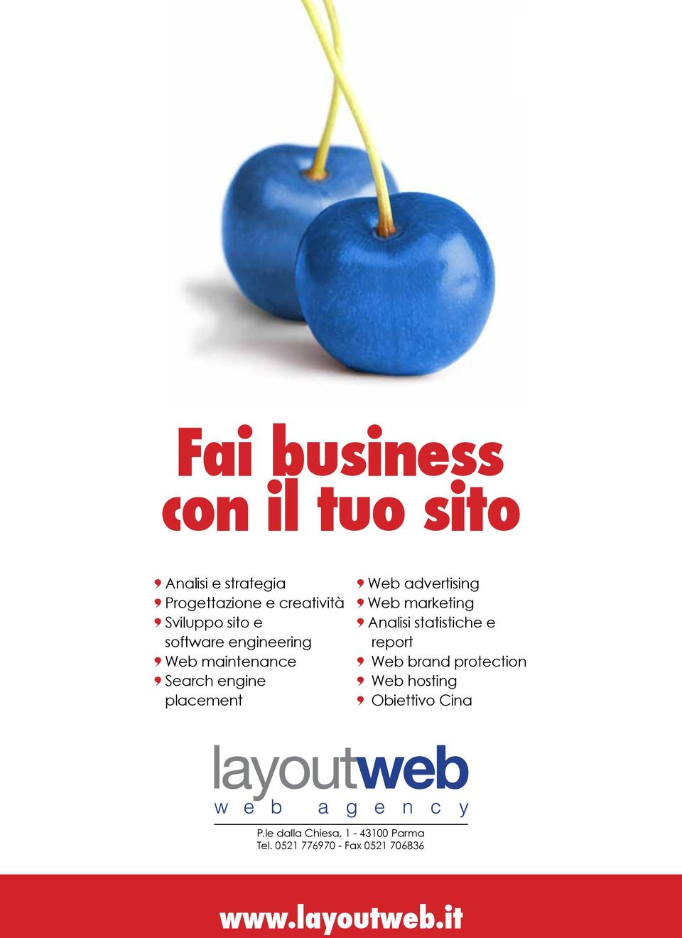 marketing Analisi statistiche e report Web brand protection Web hosting