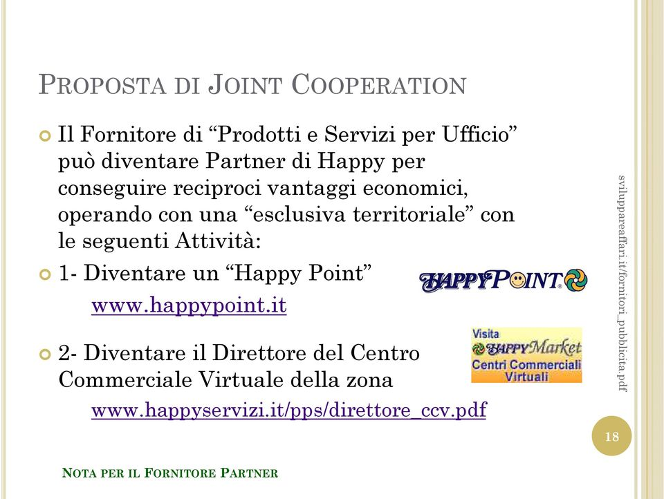 Diventare un Happy Point www.happypoint.