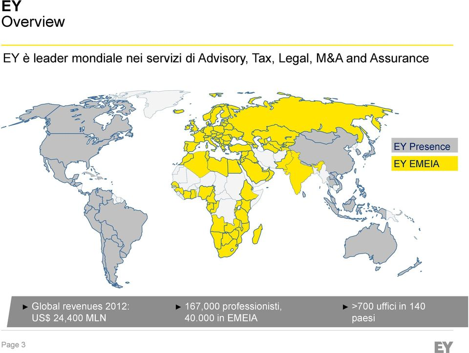 EMEIA Global revenues 2012: US$ 24,400 MLN 167,000