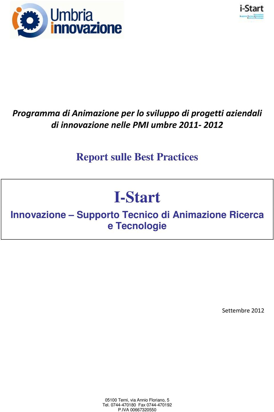 Report sulle Best Practices I-Start Innovazione