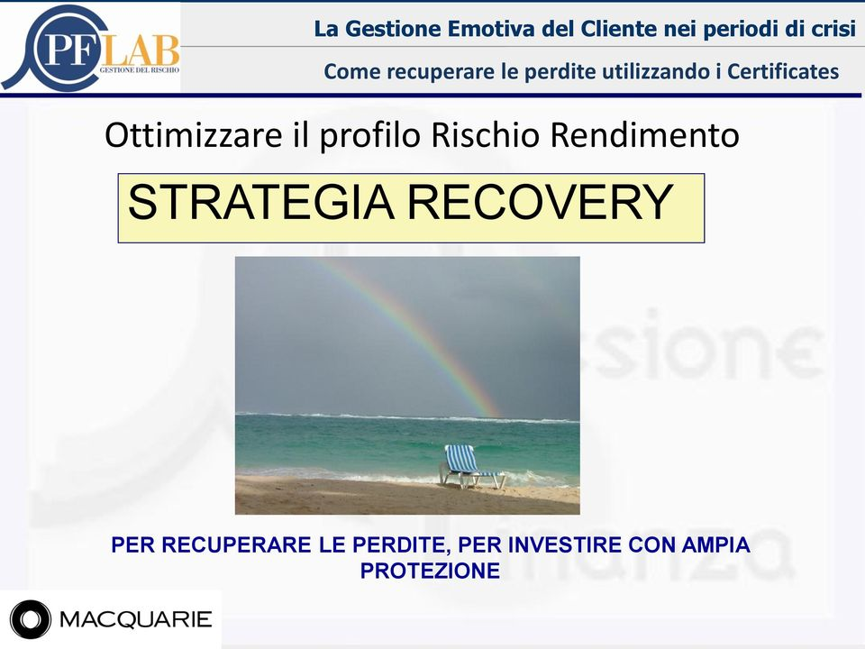 Rendimento STRATEGIA RECOVERY PER