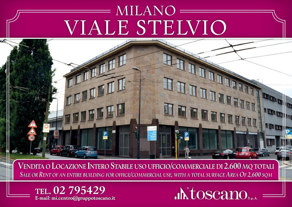 600 MQ TOTALI SALE OR RENT OF AN ENTIRE BUILDING FOR