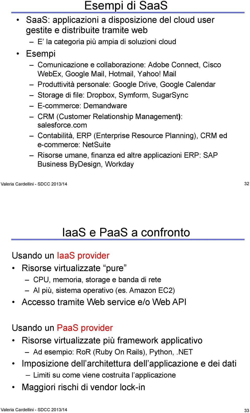 Mail Produttività personale: Google Drive, Google Calendar Storage di file: Dropbox, Symform, SugarSync E-commerce: Demandware CRM (Customer Relationship Management): salesforce.
