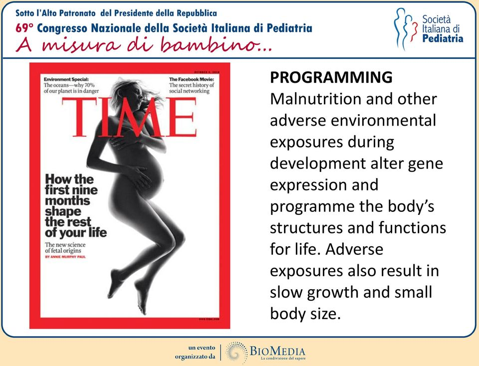 programme the body s structures and functions for life.