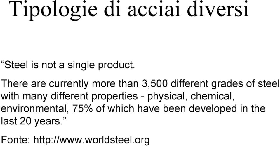 many different properties - physical, chemical, environmental, 75%