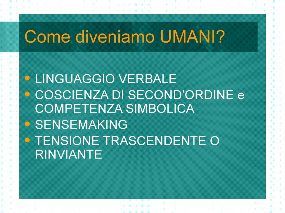 SECOND ORDINE e COMPETENZA