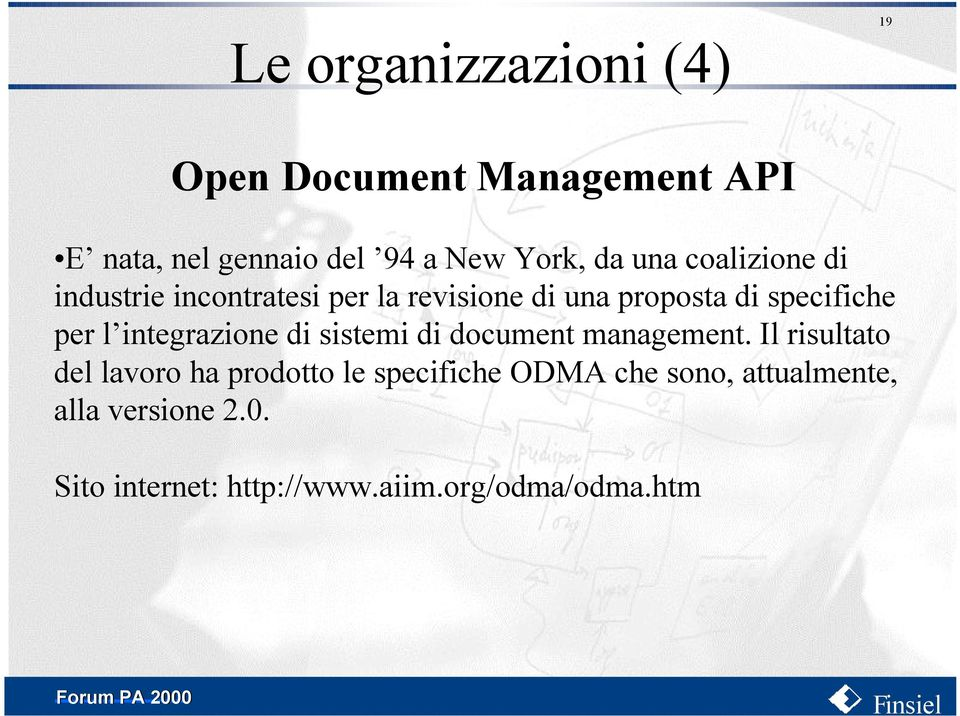 integrazione di sistemi di document management.