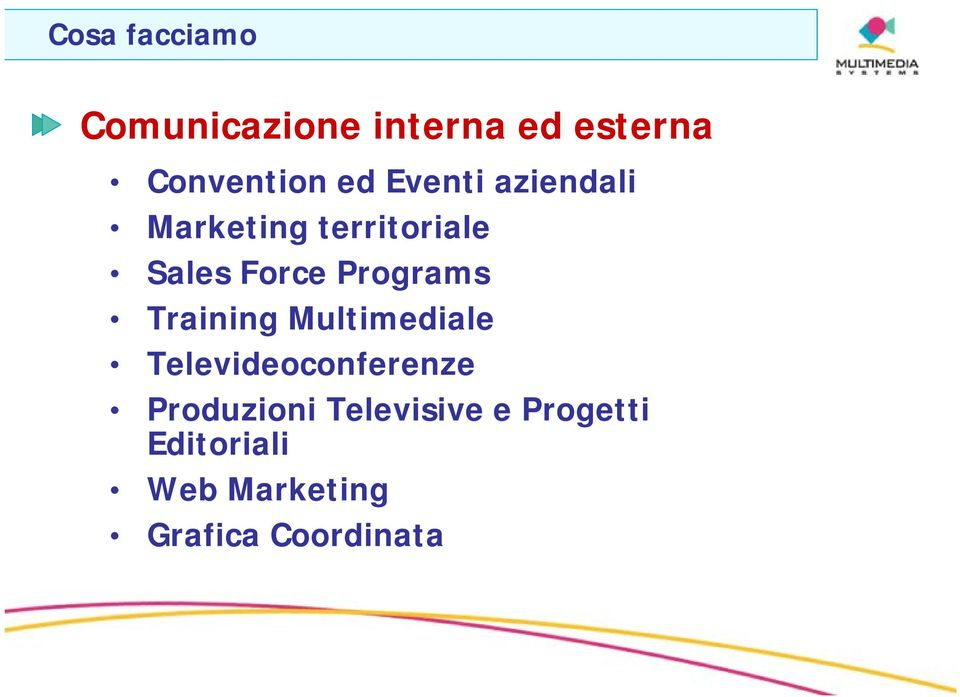 Programs Training Multimediale Televideoconferenze