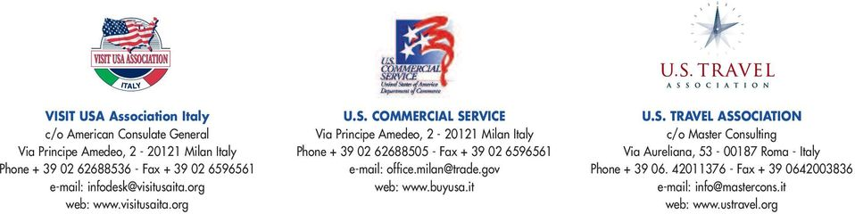 COMMERCIAL SERVICE Via Principe Amedeo, 2-20121 Milan Italy Phone + 39 02 62688505 - Fax + 39 02 6596561 e-mail: office.milan@trade.