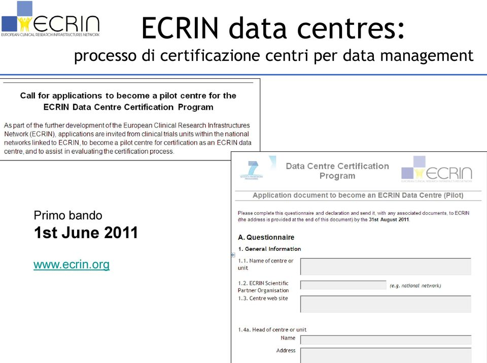 per data management Primo