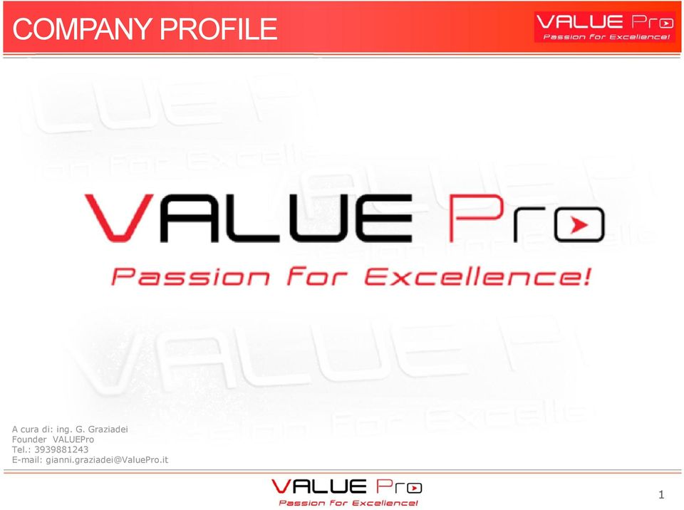 Graziadei Founder VALUEPro