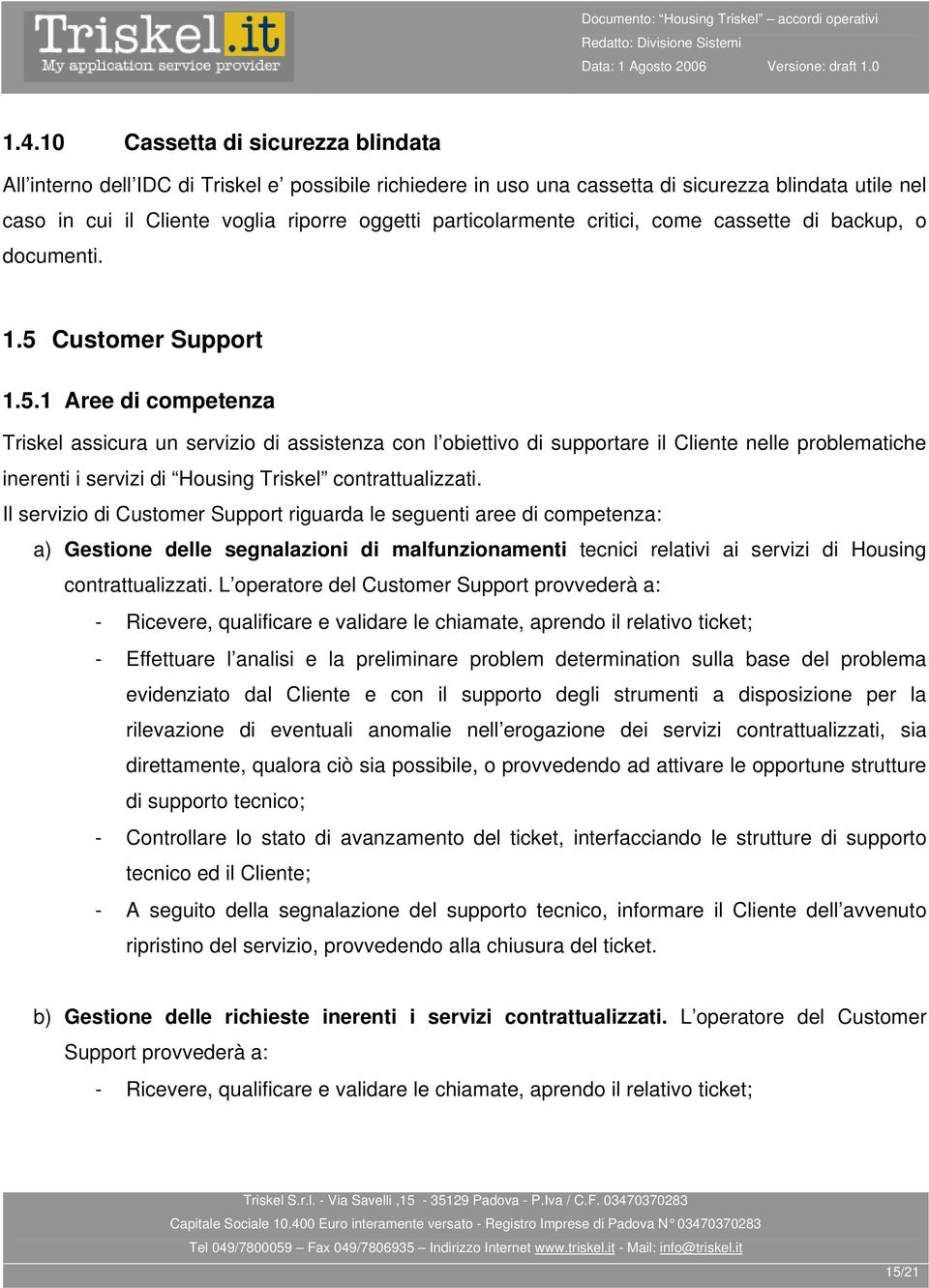 Customer Support 1.5.
