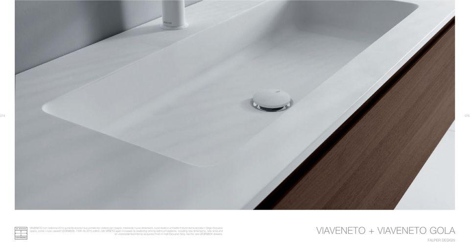 / With its 2015 edition, VIA VENETO again increases its leadership among bathroom systems, including new dimensions,