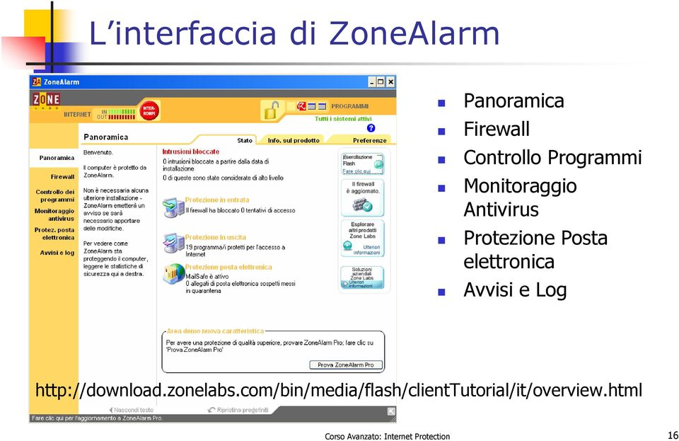 Avvisi e Log http://download.zonelabs.