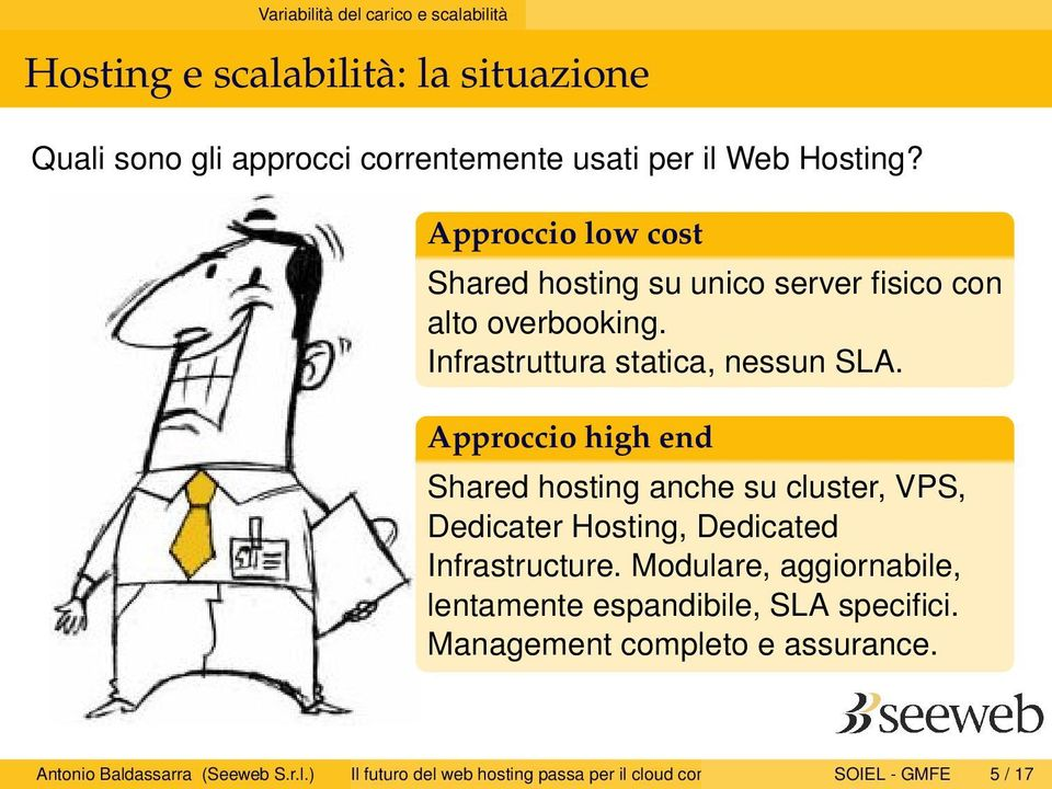 Approccio high end Shared hosting anche su cluster, VPS, Dedicater Hosting, Dedicated Infrastructure.