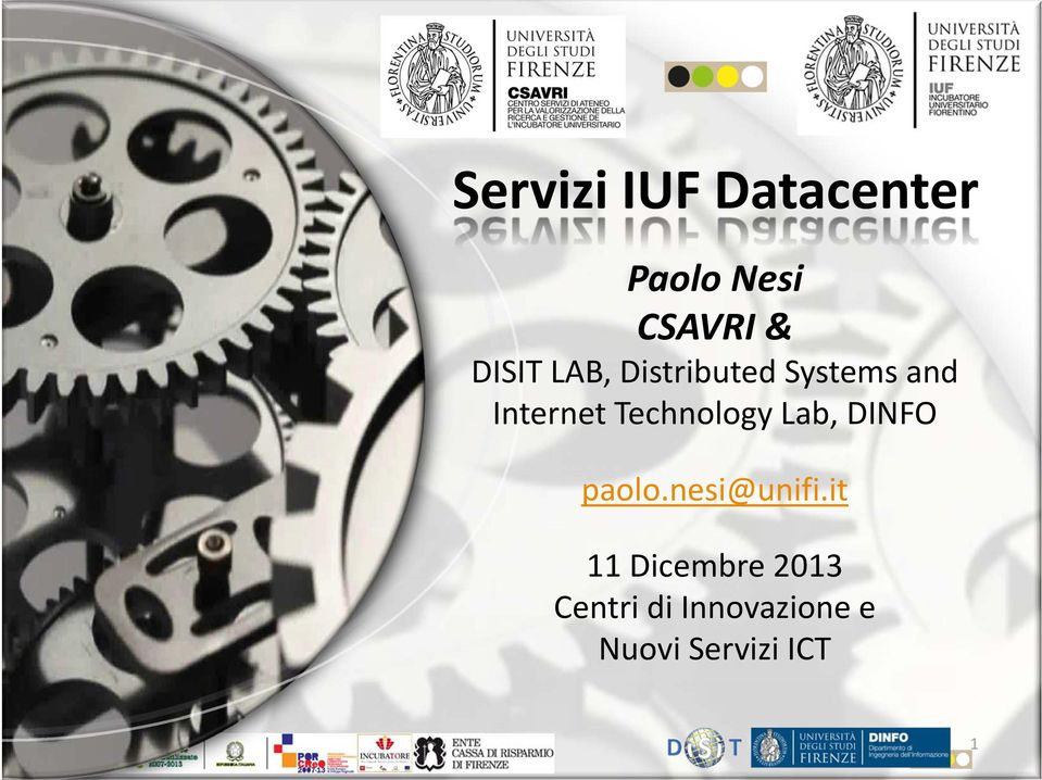 Technology Lab, DINFO paolo.nesi@unifi.