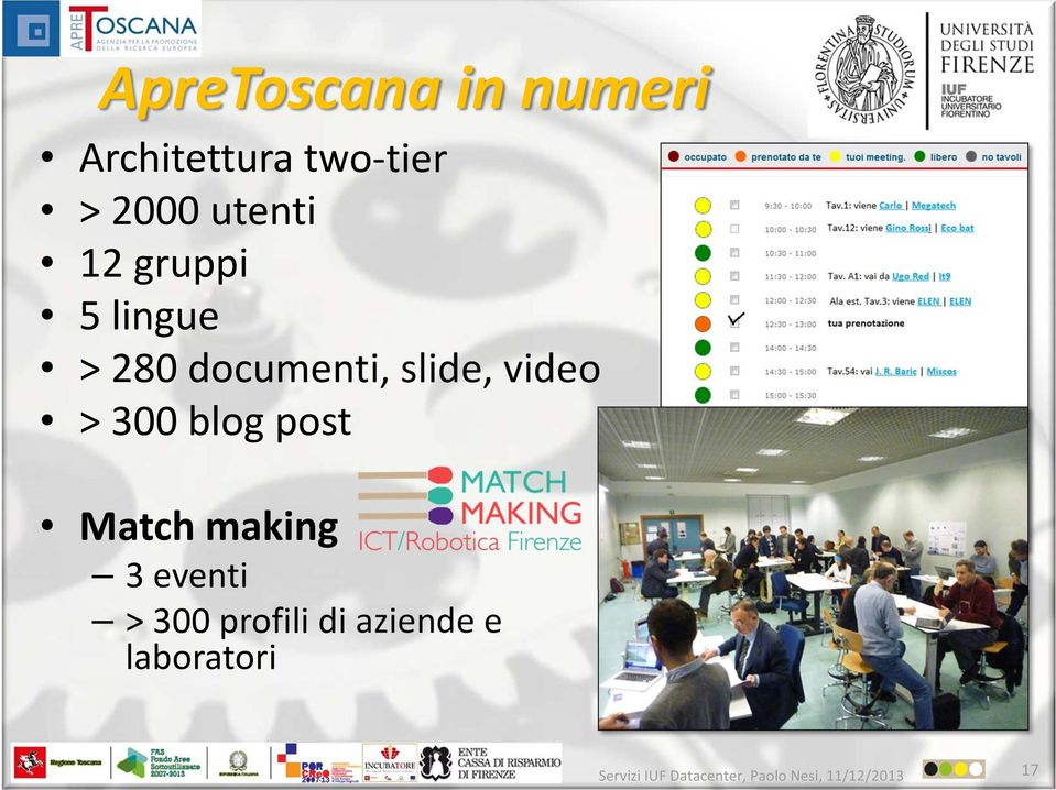 documenti, slide, video > 300 blog post Match