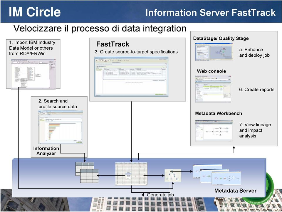 Create source-to-target specifications Information Server FastTrack DataStage/ Quality Stage 5.