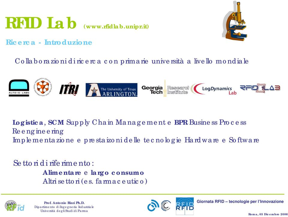mondiale Logistica, SCM Supply Chain Management e BPR Business Process Reengineering