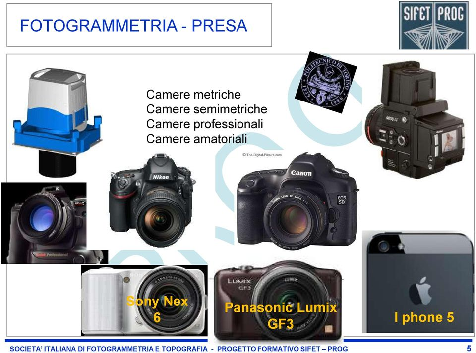 Sony Nex 6 Panasonic Lumix GF3 I phone 5 SOCIETA