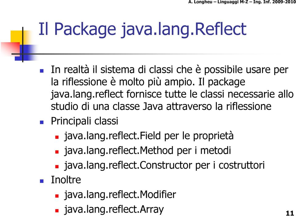 Il package java.lang.