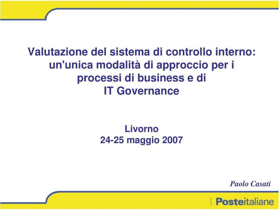 per i processi di business e di IT