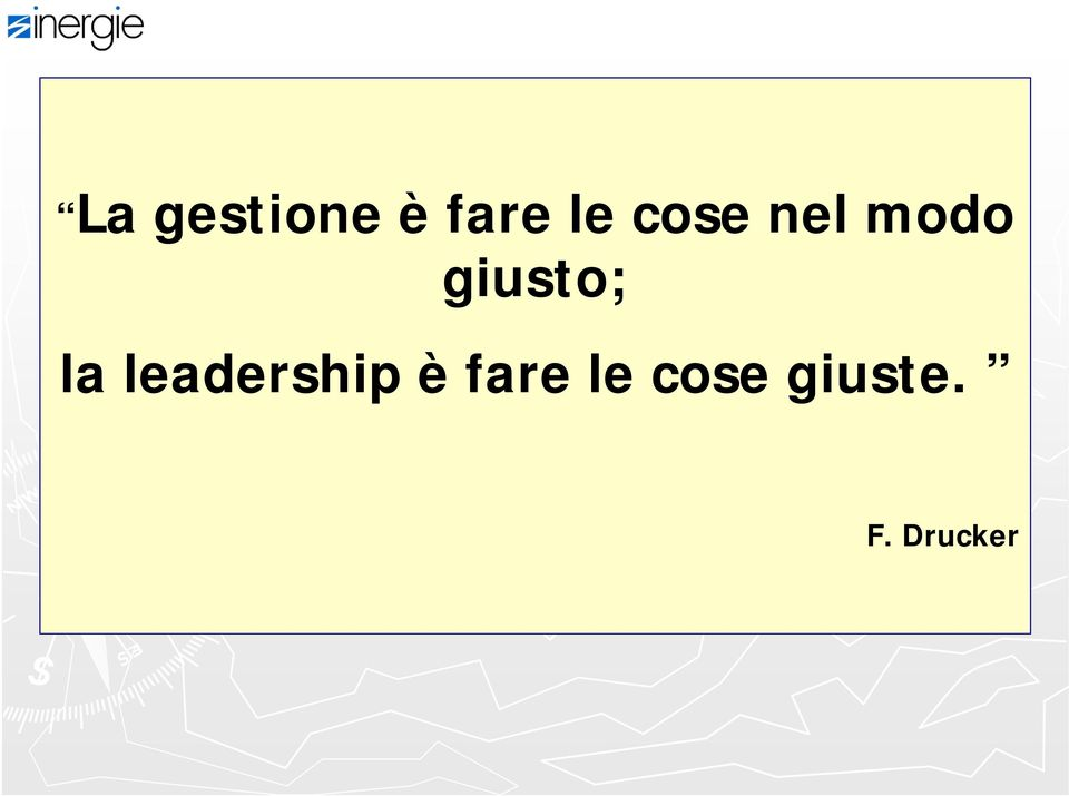 la leadership è fare