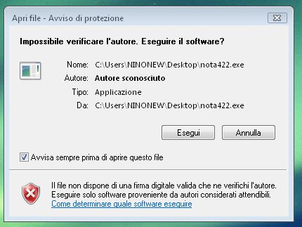 installa sul pc il software necessario per