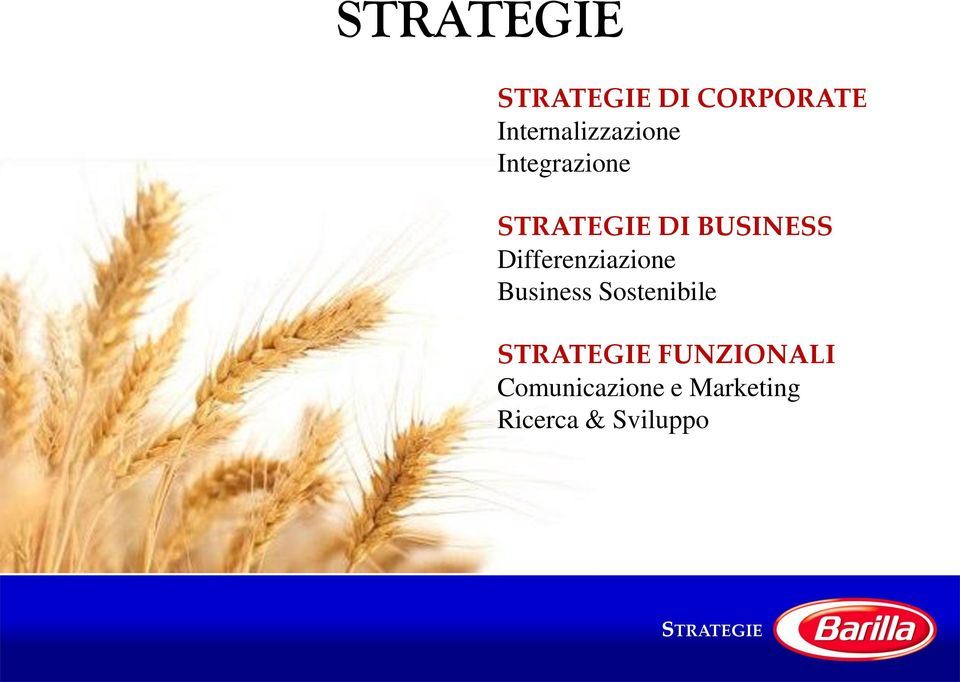 BUSINESS Differenziazione Business Sostenibile