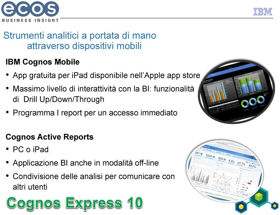 di Drill Up/Down/Through Programma I report per un accesso immediato Cognos Active Reports PC o