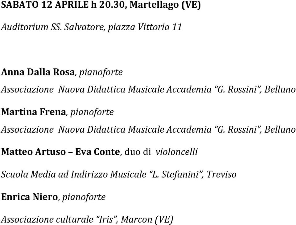 Musicale Accademia G.