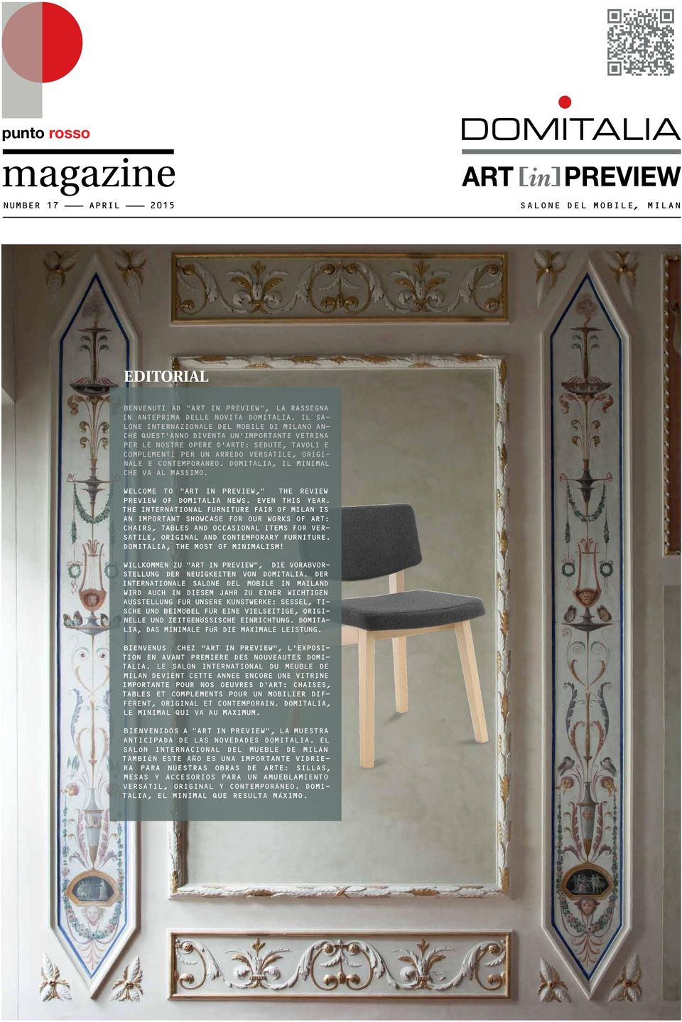 "CONTEMPORANEO. DOMITALIA, IL MINIMAL CHE VA AL MASSIMO. WELCOME TO ""ART IN PREVIEW,"" THE REVIEW PREVIEW OF DOMITALIA NEWS. EVEN THIS YEAR."